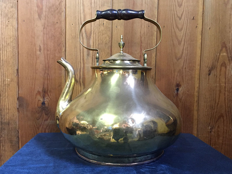 Brass oversized country house kettle